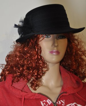 C&A Sombrero de fieltro azul oscuro tejido mezclado