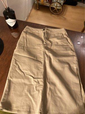 Nakd Denim Skirt sand brown-lime yellow