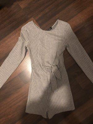 Bershka Tailleur-pantalon noir-gris