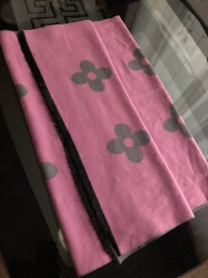 0039 Italy Cashmere Scarf grey-pink