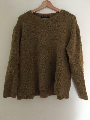 Amisu Pull tricoté vert olive