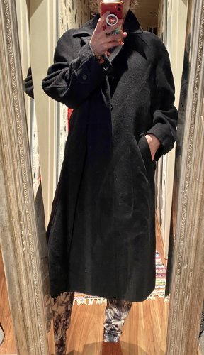 Barisal Wollen jas zwart