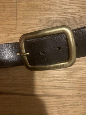 Ralph Lauren Cinturón trenzado negro