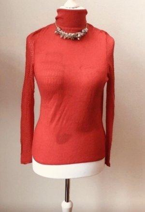 3suisses Szydełkowany sweter czerwony