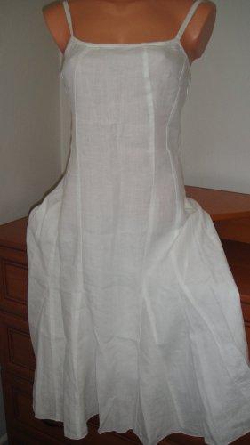Benetton Vestido largo blanco Lino