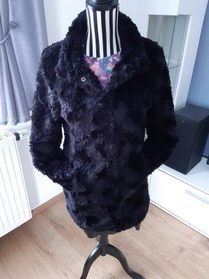 Vero Moda Płaszcz ze sztucznym futrem czarny