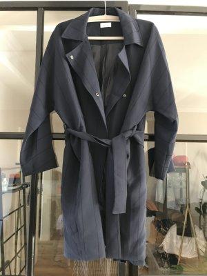 American Vintage Trenchcoat donkerblauw-zwart