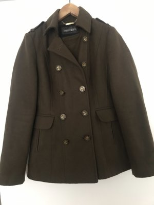 Atmosphere Heavy Pea Coat khaki