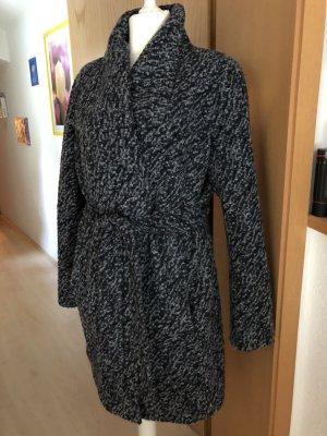 toller Mantel von Comma Gr. 46 Boucle grau-schwarz wNEU