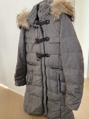 mabrun Płaszcz zimowy Wielokolorowy Tkanina z mieszanych włókien
