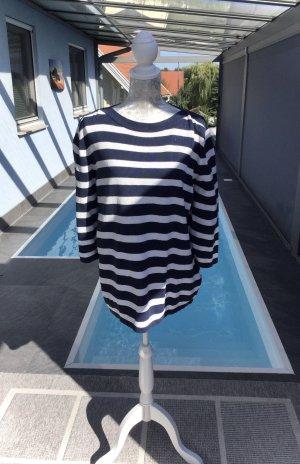 100% Fashion Maglione oversize bianco-blu scuro