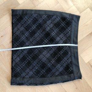 Street One Mini-jupe noir-gris anthracite