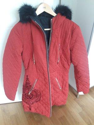 Toller neuer desigual Mantel 36 rot/schwarz