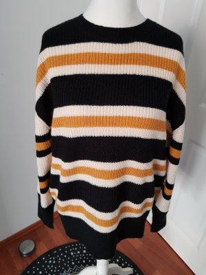Billabong Oversized Sweater dark brown-light orange