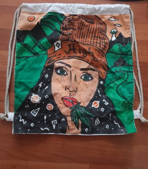 Pouch Bag brown-forest green