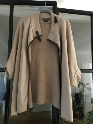 Massimo Dutti Knitted Poncho camel