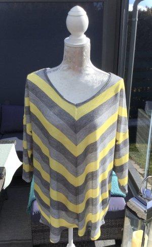 100% Fashion Kraagloze sweater veelkleurig