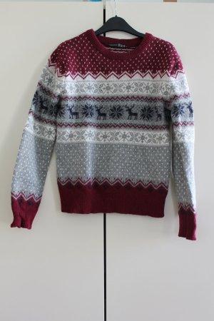 Atmosphere Pull norvégien multicolore laine