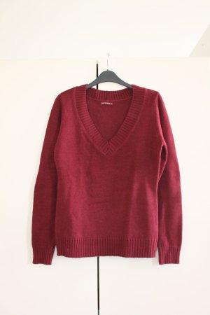 Terranova Maglione lavorato a maglia rosso scuro-rosso