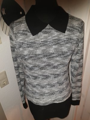 Sweater Twin Set black-natural white