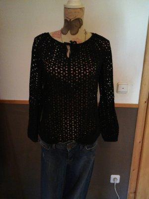 toller Pullover schwarz 36 S Hallhuber schwarz