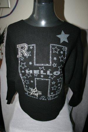 toller Pullover schwarz mit Strassapplikationen vorne von M.B.21 Collection