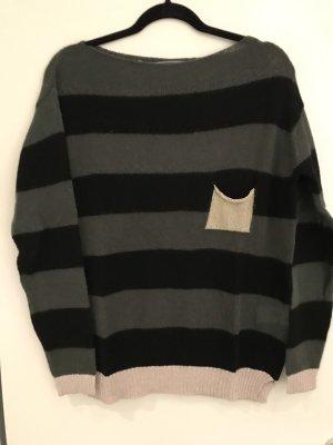 Angela Davis Pull tricoté multicolore