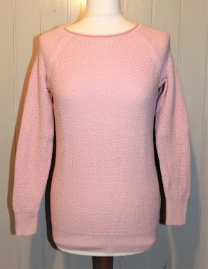 Best Connections Crewneck Sweater pink-light pink cotton
