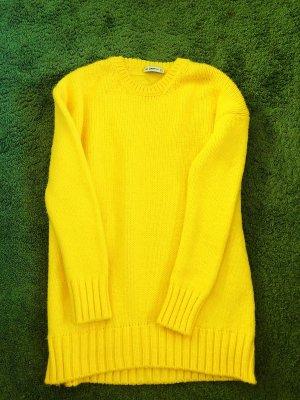 Zara Pull long jaune fluo
