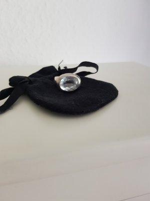 Boucles d'oreilles en argent blanc-argenté
