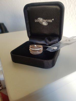 Burkhardt Anello d'argento color oro rosa