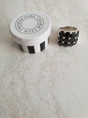 Thomas Sabo Silver Ring black-silver-colored real silver