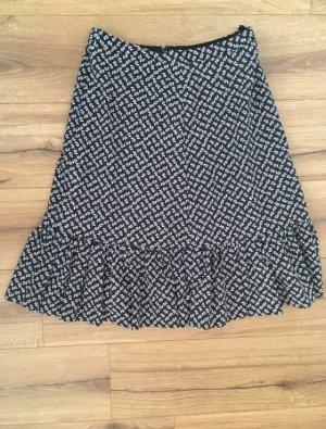 Godet Skirt black-white