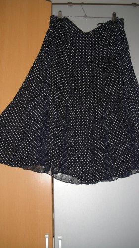 Gelco Jupe en tissu crash noir-blanc polyester