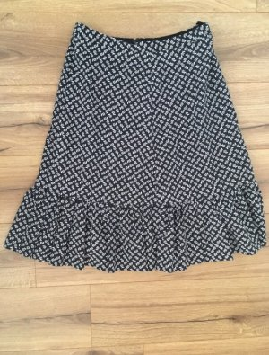 Godet Skirt black-white