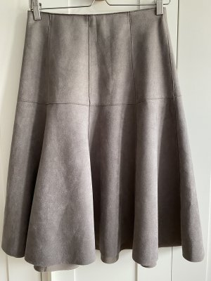 Orsay Leather Skirt grey