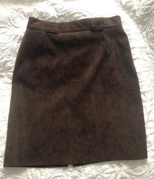 0039 Italy Ołówkowa spódnica ciemnobrązowy