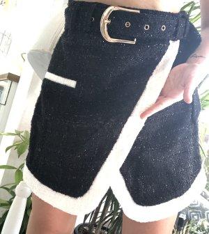 Tweed Skirt black-white