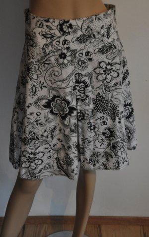 Clockhouse Spódnica w kształcie tulipana biały-czarny Bawełna