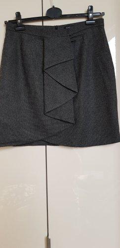 Caroll Wełniana spódnica jasnoszary-ciemnoszary