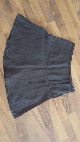 H&M Lniana spódnica ciemnobrązowy