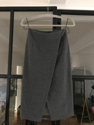 Massimo Dutti Rok met hoge taille grijs