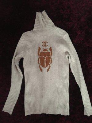 1.2.3 Paris Sweter z golfem jasnobeżowy