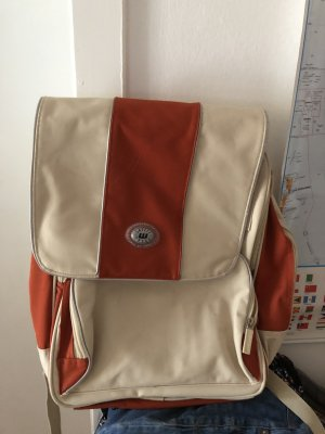 School Backpack dark red-cream
