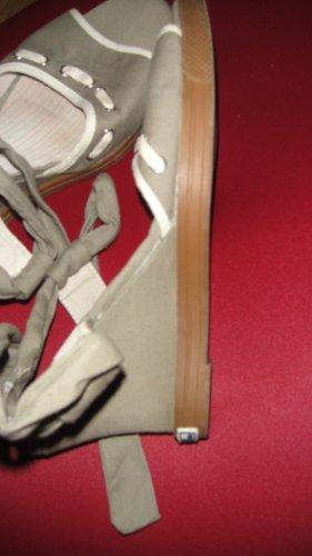 Tom Tailor Denim Sandalo alto con plateau argento-grigio-verde Cotone