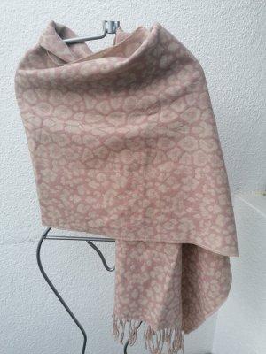 Écharpe à franges vieux rose-rosé