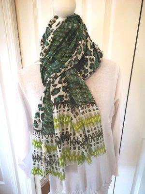 toller Schal im animal Look grün grau weiß NEU