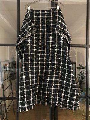 Hallhuber Bufanda de lana blanco-negro