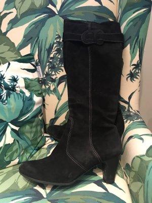 Toller schwarzer Wildleder-Stiefel von Gabor * Größe 5 1/2 * 38,5