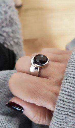 unbekannte Gouden ring zilver-donkerbruin